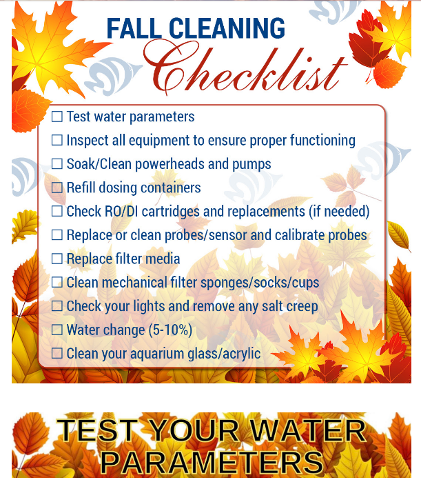 fall cleaning checklist for aquariums